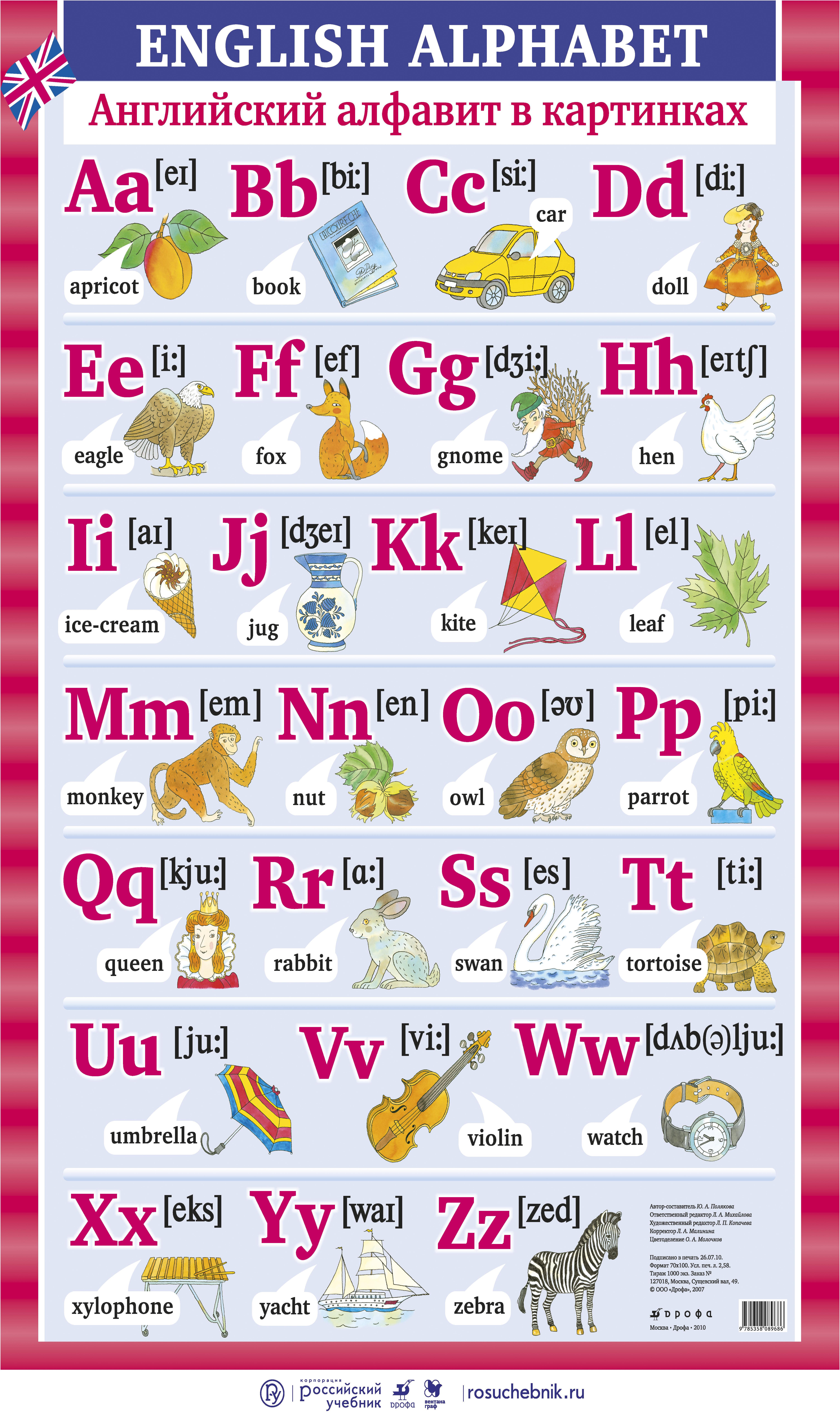 Английский алфавит в картинках – наглядное пособие ...