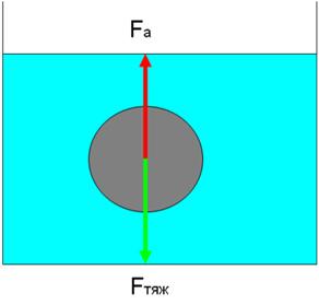 контрольная работа по физике архимедова сила