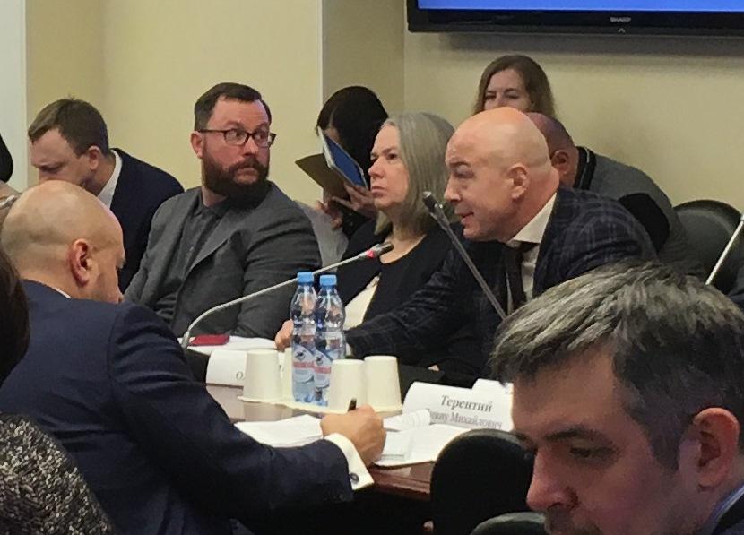 Олег Новиков на заседании в Государственной Думе